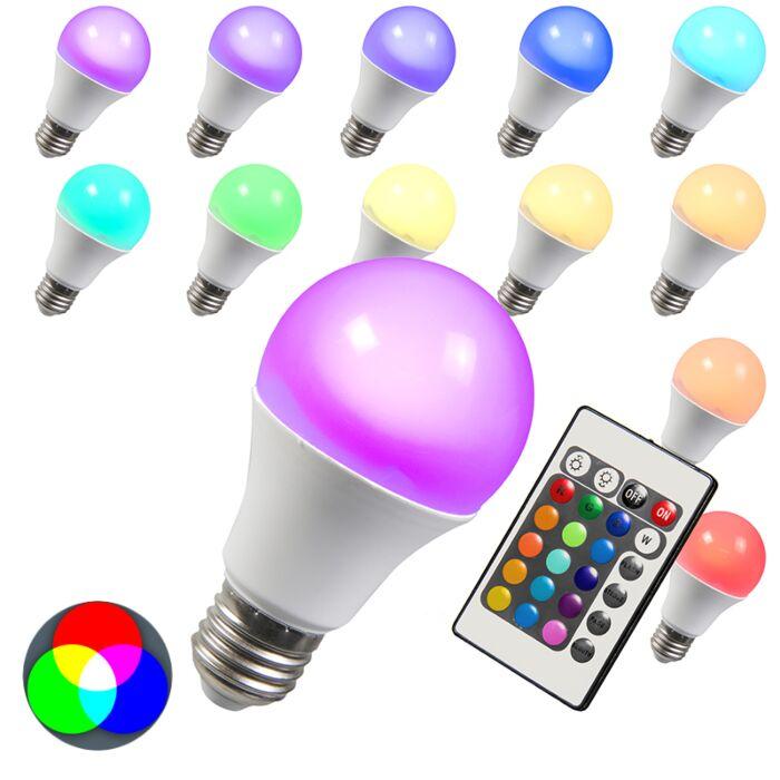 LED-Lampe-RGB-E27-3W