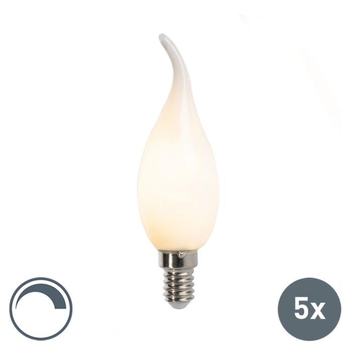 5er-Set-LED-Kerzenlampe-E14-3W-250lm-F35-dimmbar-matt
