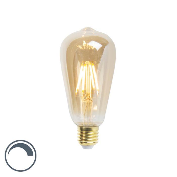 E27-dimmbare-LED-Glühlampe-ST64-Goldline-5W-360-lm-2200K