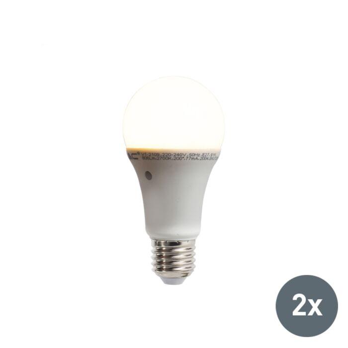 2er-Set-LED-Lampen-mit-eingebautem-Hell-Dunkel-Sensor-E27-9W-806-Lumen-warmweiß-2700K