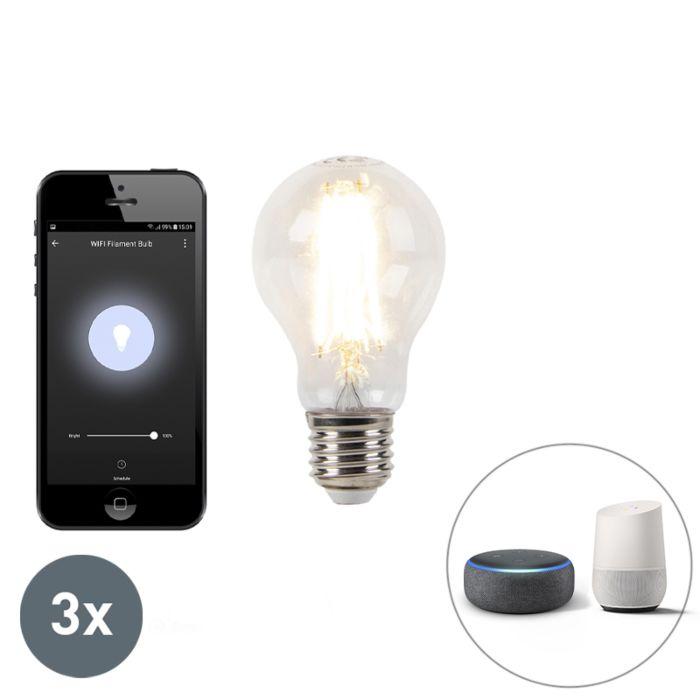 3er-Set-E27-dimmbare-LED-Lampe-Wifi-Smart-mit-ca.-7W-800lm-2700K