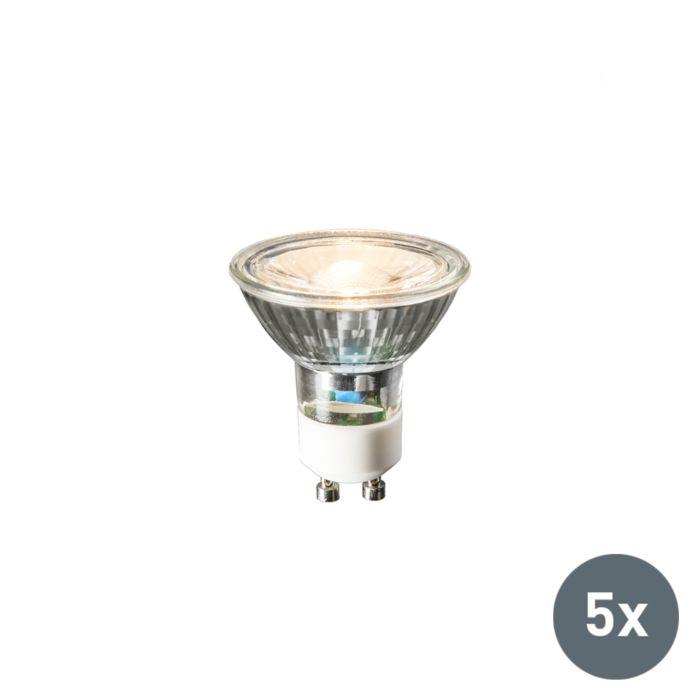5er-Set-GU10-LED-Leuchte-240V-3W-230lm-warmweiß