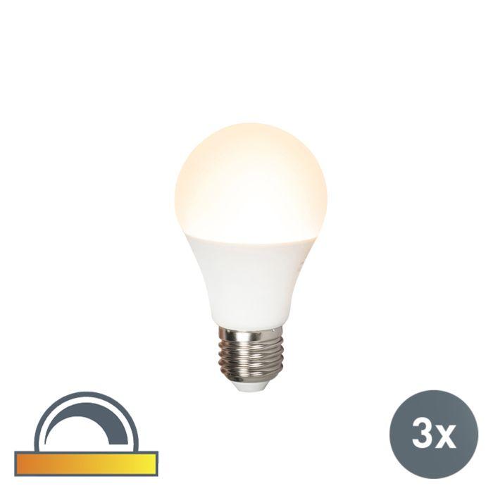 3er-Set-LED-Lampe-E27-240V-7W-510lm-A60-dimmbar