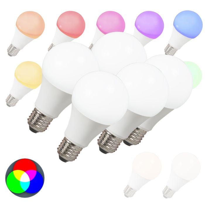 5er-Set-LED-Lampe-E27-240V-7W-500lm-A60-Smart-Light