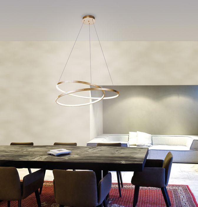 Design-Hängelampe-Gold-72-cm-inkl.-LED-dimmbar---Rowan