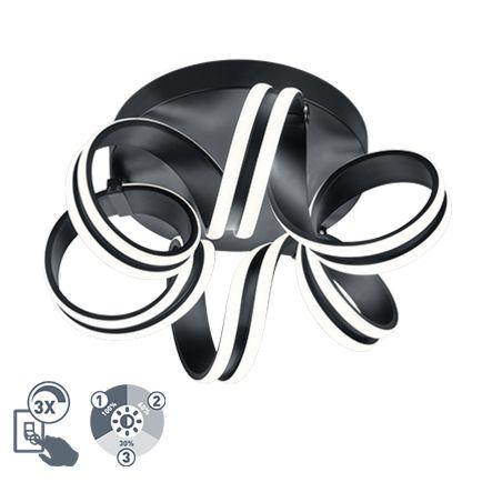 Design-Deckenleuchte-schwarz-3-stufig-dimmbar-inkl.-LED---Filum