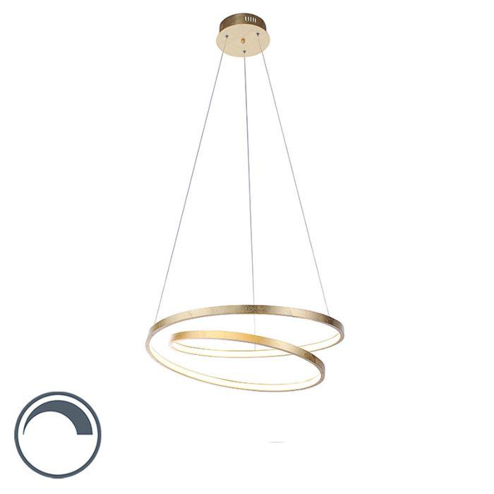Design-Hängelampe-Gold-55-cm-inkl.-LED-dimmbar---Rowan