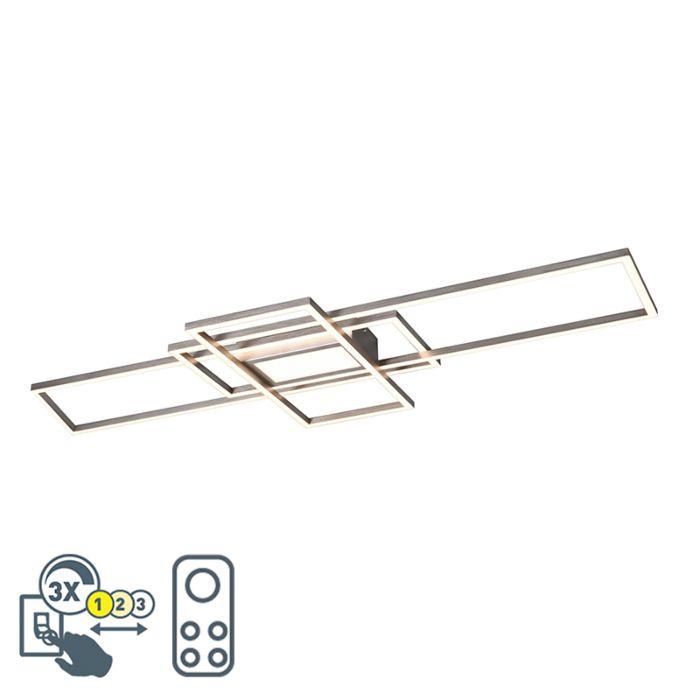 Deckenleuchte-Stahl-inkl.-LED,-Fernbedienung-3-Stufen-dimmbar---Riha