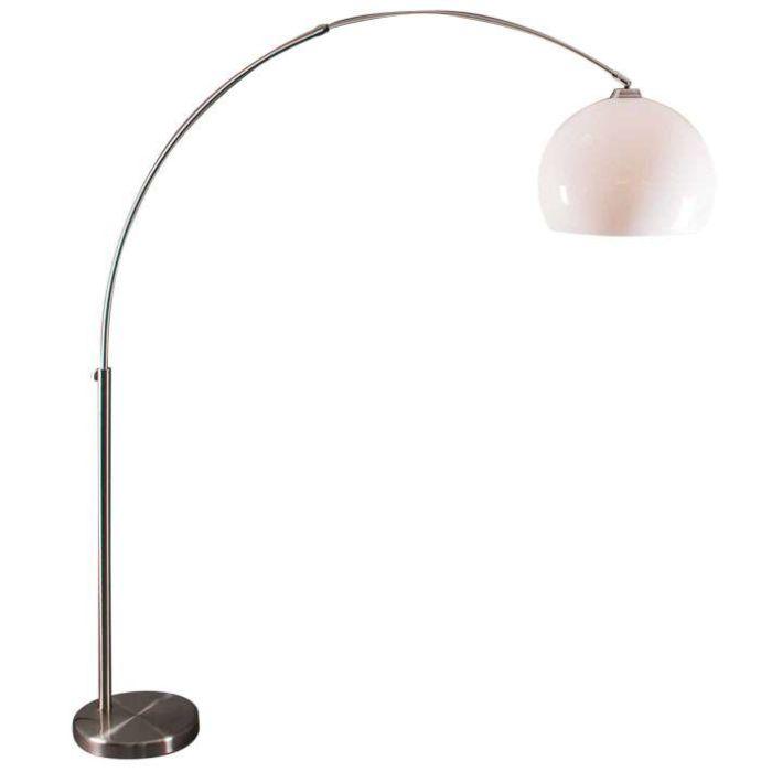 Bogenlampe-Stahl-mit-weißem-Plexiglasschirm