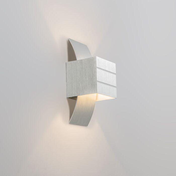 Moderne-Wandleuchte-aluminium---Amy