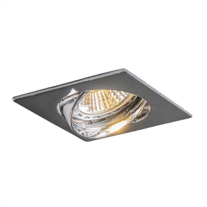 LED-Einbaustrahler-Edu-kippbar-quadratisch-chrom