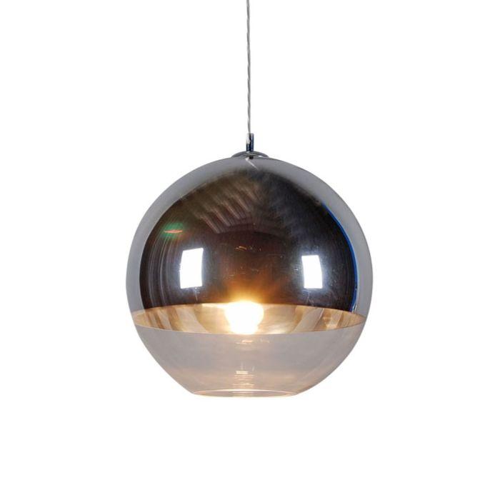 Ball-40-Silber-Hängelampe