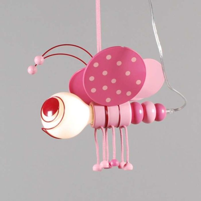 Kids-Bee-Hängelampe-Pink