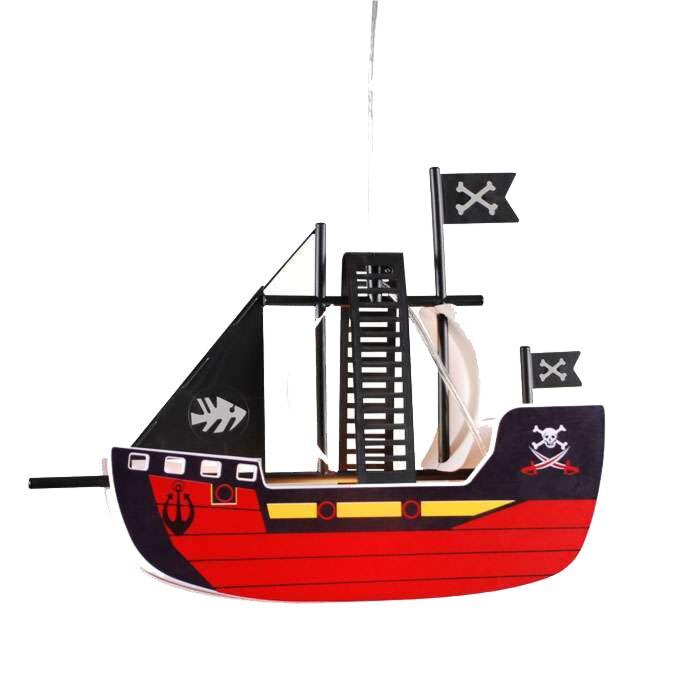 Kinder-Piratenschiff-Hängelampe