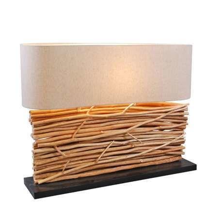 Tischleuchte-Maha-mit-Leinenschirm