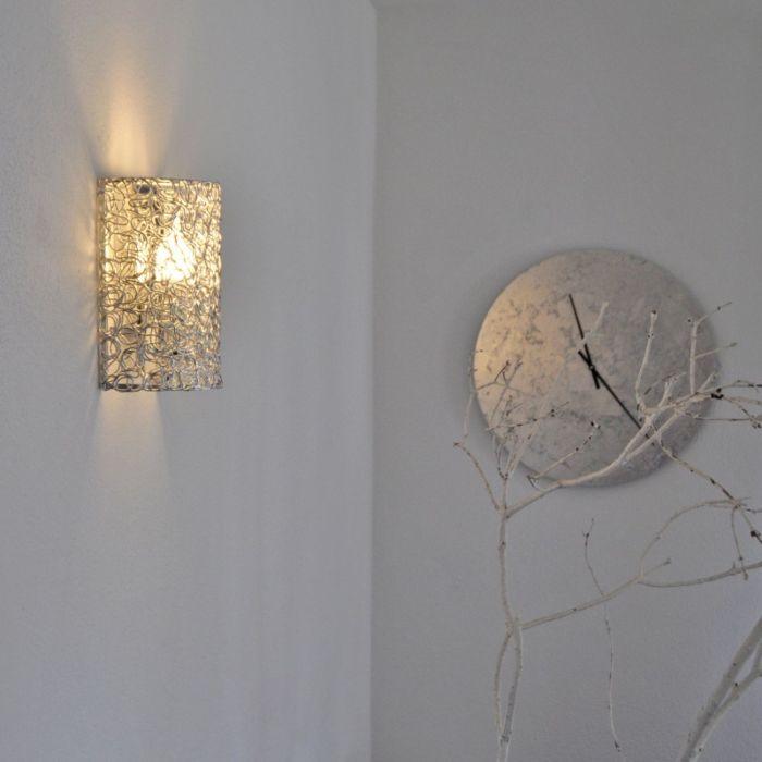 Draht-Wandleuchte-halb-Aluminium