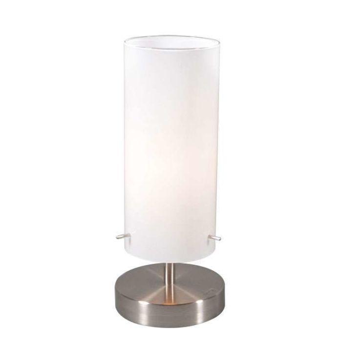 Tischleuchte-Boy-1-Stahl-mit-weißem-Glas