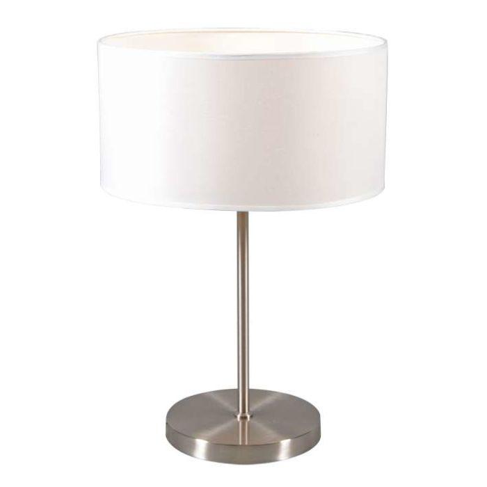Lugar-Stahltischlampe-mit-cremeweißem-Schirm