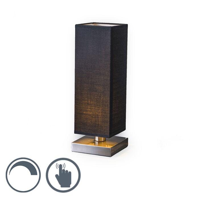 Tischleuchte-Tower-Touch-Stahl-mit-schwarz