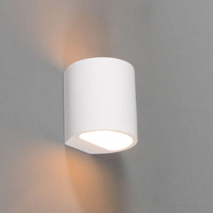 Moderne-Wandleuchte-weiß-rund---Gipsy-Arles