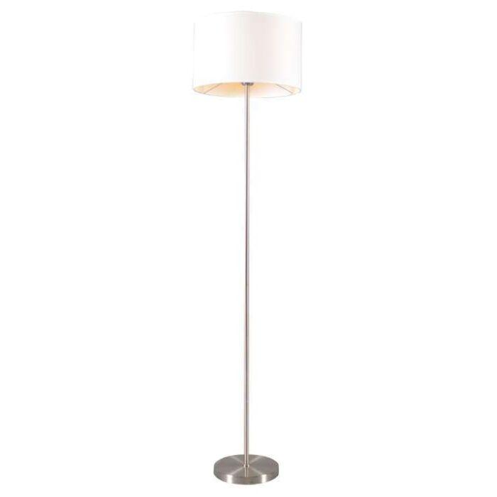 Lugar-Stehlampe-aus-Stahl-mit-weißem-Schirm