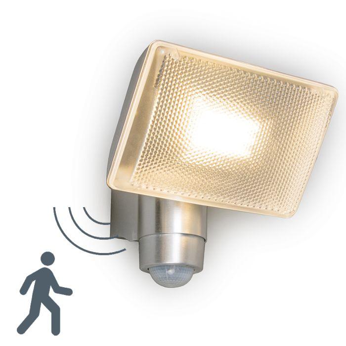 LED-Strahler-VAP-Delux-mit-Bewegungsmelder-Aluminium