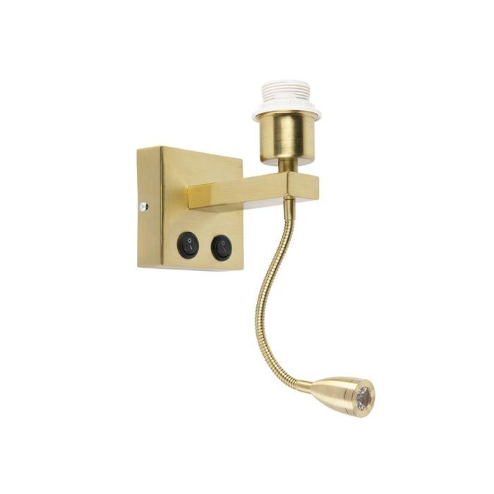 Moderne-Wandleuchte-Gold-mit-Flexarm---Brescia-Combi