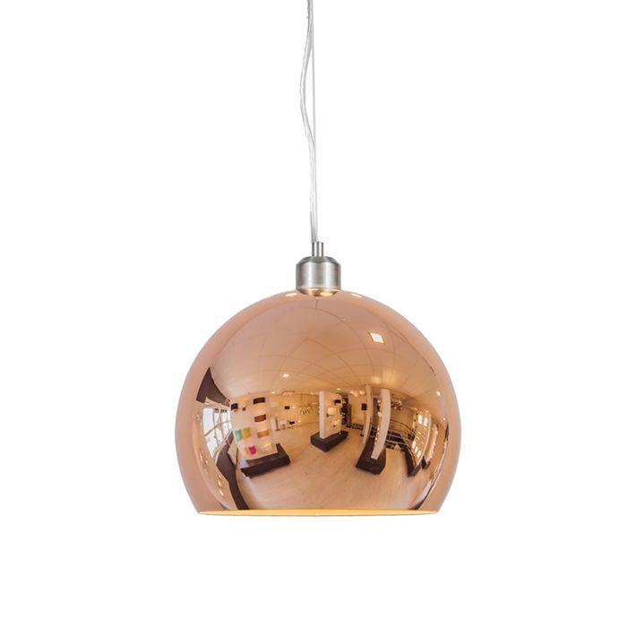 Hängelampe-Globe-28-cm-Kupfer