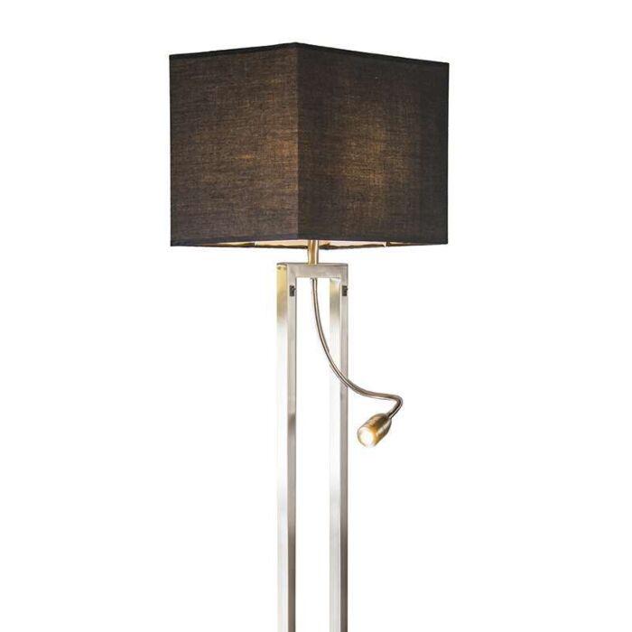 Bergamo-Stehlampe-aus-Stahl-mit-schwarzem-Schirm