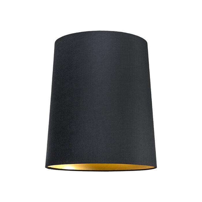 Haube-35cm-um-SU-E27-schwarz-gold