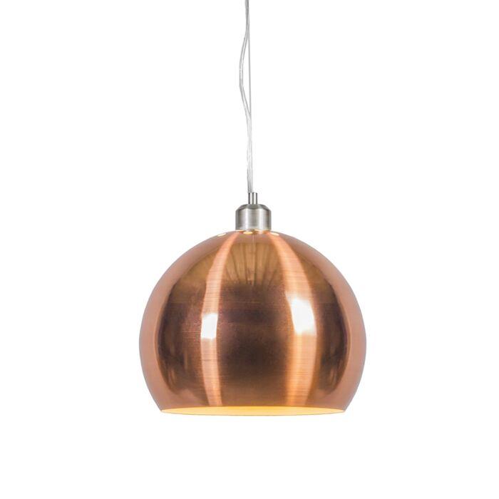 Hängelampe-Globe-28-cm-Kupfer-matt