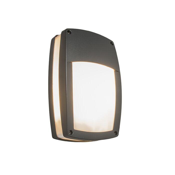 Moderne-Außenwandleuchte-dunkelgrau---Glow-Recta-1