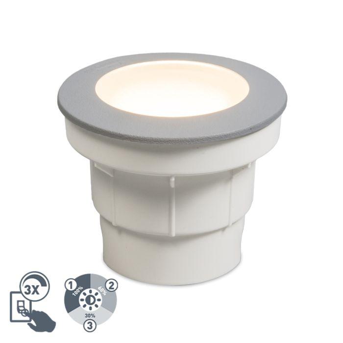 Moderner-Outdoor-Bodenstrahler-grau-inkl.-LED-IP67---Ceci