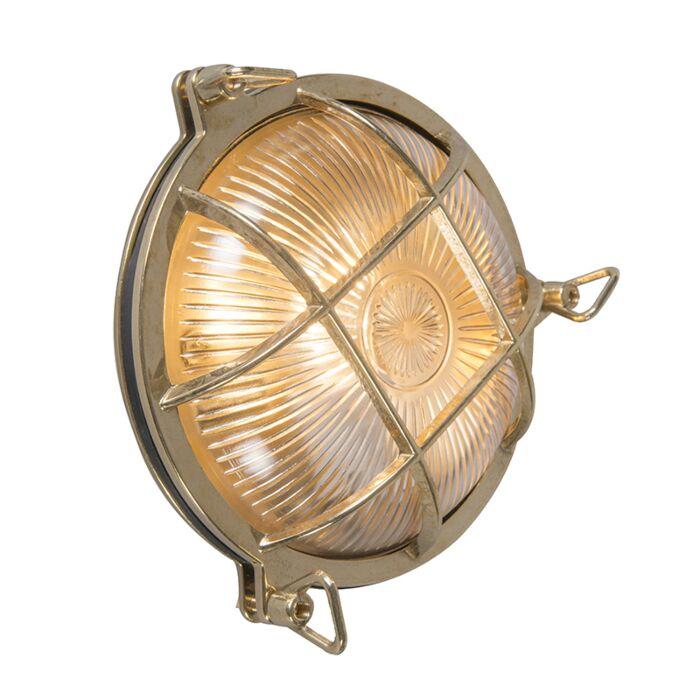 Wand--und-Deckenleuchte-Gold-IP44---Nautica-rund