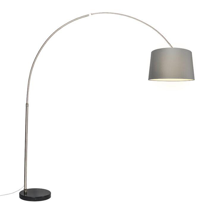 Bogenlampe-XXL-Stahlschirm-45-cm-schräg-grau