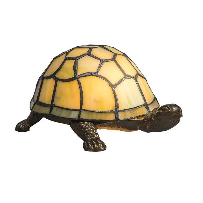 Tischlampe-Tiffany-Turtle-gelb