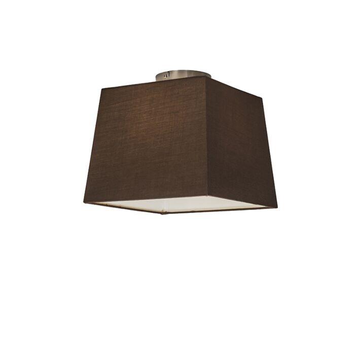 Deckenleuchte-Combi-30-cm-quadratisch-braun