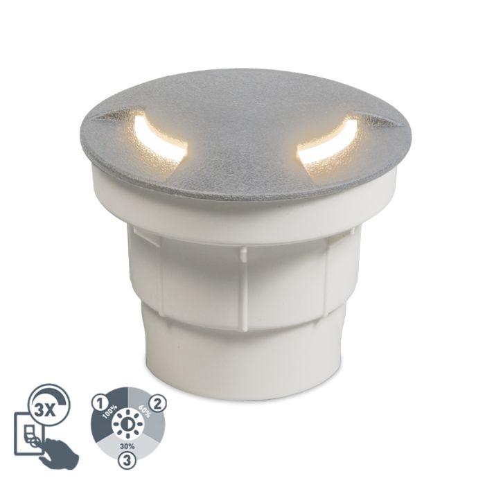 Moderner-Outdoor-Bodenstrahler-grau-inkl.-LED-IP67---Ceci-2
