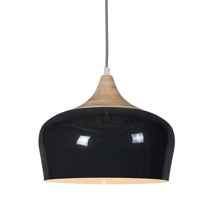 Pendelleuchte-Pine-schwarz