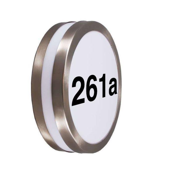 Außenwandleuchte-Edelstahl-mit-Hausnummer-IP44---Leeds