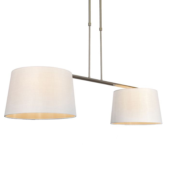 Hängelampe-Combi-Delux-2-Schirm-rund-40cm-weiß