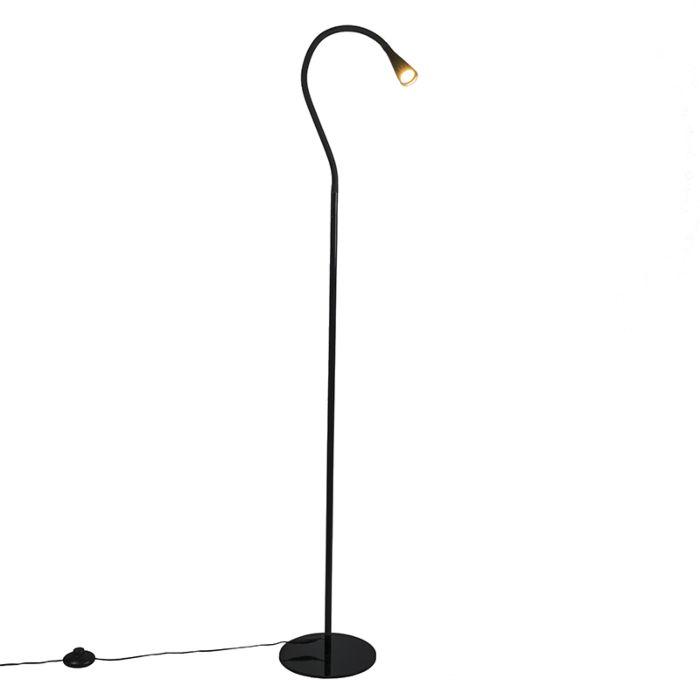 Stehleuchte-Swan-schwarz-LED