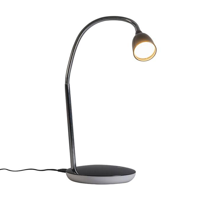 Tischleuchte-Flex-schwarz-LED