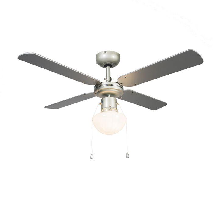 Deckenventilator-Wind-42-silbergrau