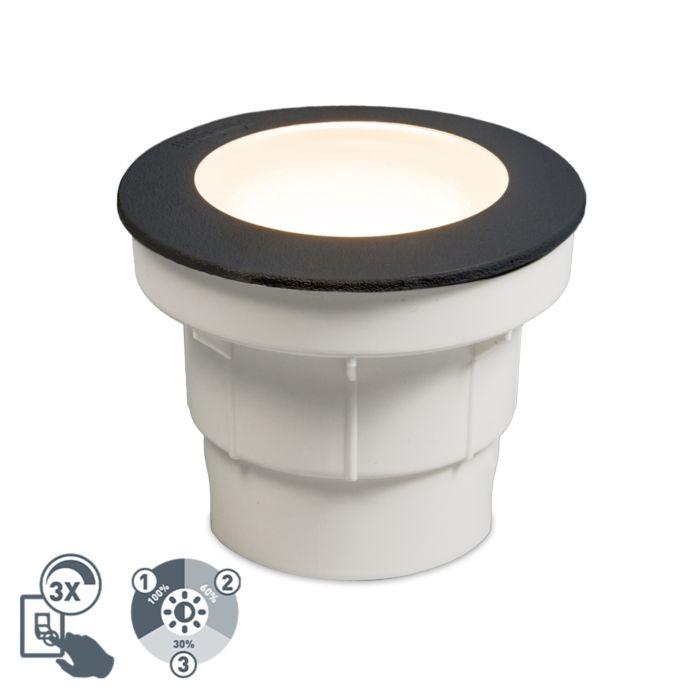 Moderner-Outdoor-Bodenstrahler-schwarz-inkl.-LED-IP67---Ceci