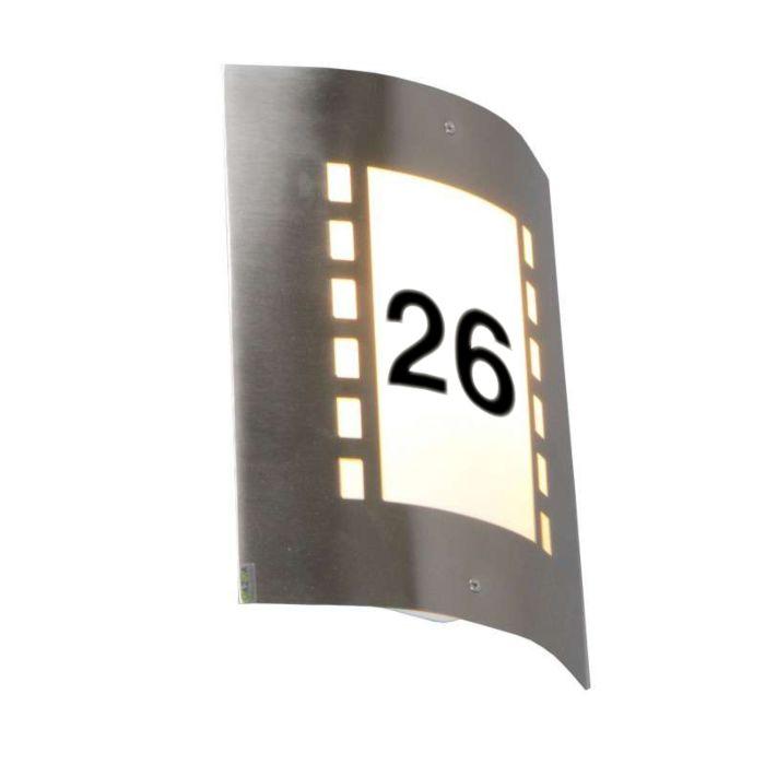 Außenleuchte-Emmerald-Lux-mit-Hausnummer