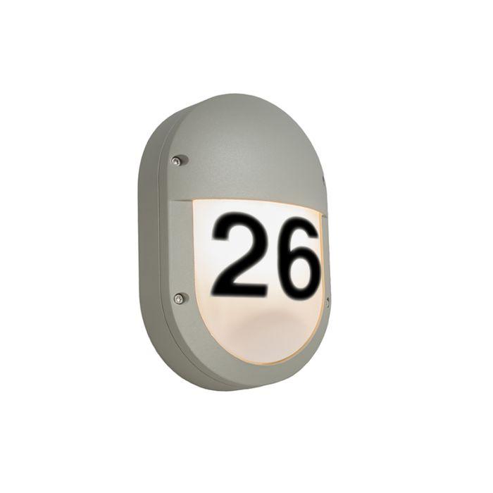 Außenleuchte-Glow-Oval-2-mit-Hausnummer