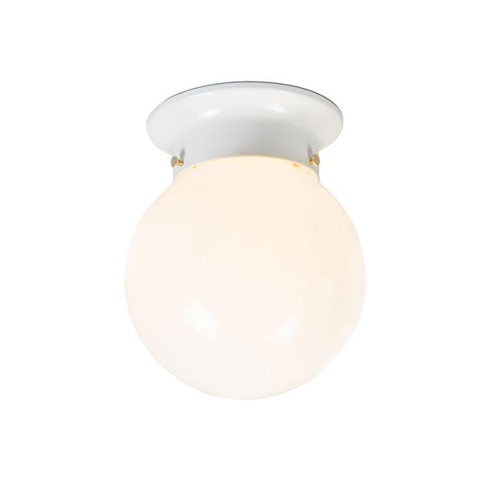 Retro-Deckenleuchte-aus-weißem-Opalglas---Scoop