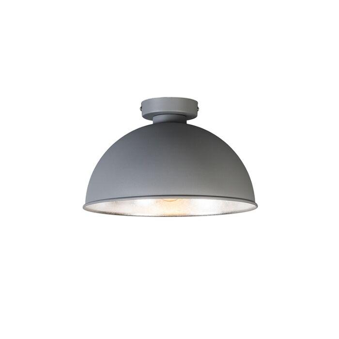 Moderne-runde-Deckenleuchte-grau---Magna-Basic
