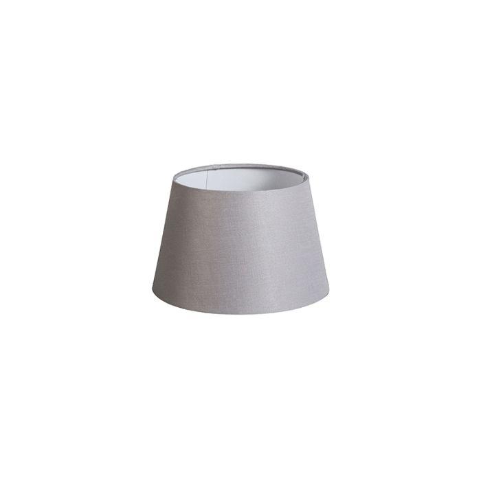 Lampenschirm-20cm-rund-DS-E27-leinen-hellgrau
